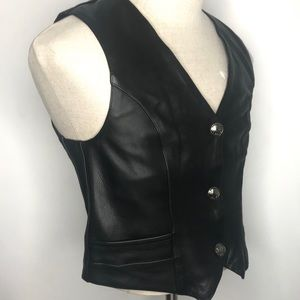 Milwaukee Leather By Shaf Womens Buffalo Snap Vest